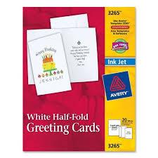 avery greeting card 5 50 x 8 50 matte 20 box white