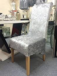 Dining Room Chair Leg Protectors Best Crushed Velvet Dining Chair With Crystal Buttons And Lion