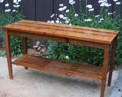 Outdoor Potting Bench With Sink Custom Cedar Potting Bench Water Station Outdoor Kitchen