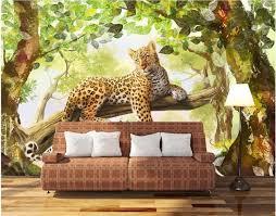 Jungle Home Decor Custom Mural 3d Photo Wallpaper The Jungle Panther Tv Home Decor