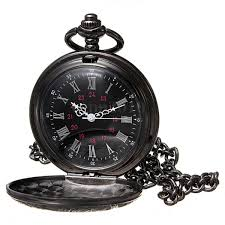 vintage halloween skeleton skeleton pocket watch chain antique look mechanical hand wind up