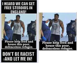 Buff Guy Meme - calling bullshit on the anti refugee memes flooding the internet