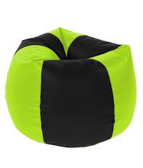 beanbagwala xxl bean bag with beans black u0026 fluorescent green