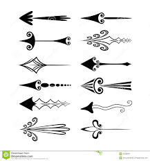 vintage arrows or cursors stock image image 26398991