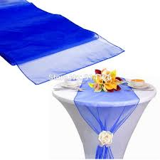 Navy Blue Table Runner 12x108 30 275cm High Quality Royal Blue Organza Table Runner For