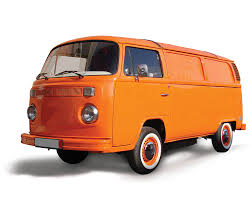 orange volkswagen van vw bus food truck volkswagen t2