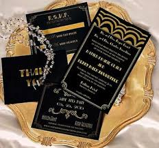Wedding Invitations Kerry Gatsby Wedding Invitation Old Hollywood Gatsby Invitations