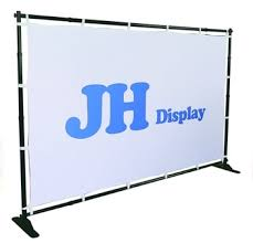 backdrop stands large format telescopic step repeat backdrop banner stand view