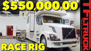 renegade rv volvo big rig is home and a three car garage on wheels