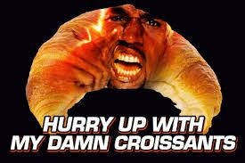 Croissant Meme - the dip