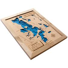 Wisconsin Lake Maps by 3d Lake Maps Wood Ya Shop