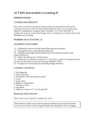 act4052 intermediate accounting ii financial statement