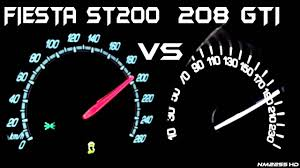 compare peugeot cars ford fiesta st200 vs peugeot 208 gti 0 200km h acceleration
