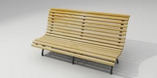3d Bench Wooden Bench U2013 Resources U2013 Free 3d Models For Blender Sweethome3d