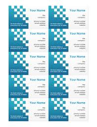 business card template word 2010 business card template word
