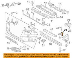 audi support audi oem 13 17 q5 front bumper grille support 8r0807333a ebay