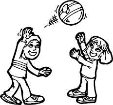 boy and ball activity coloring page wecoloringpage