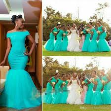 2016 teal turquoise aqua blue mermaid bridesmaid dresses off