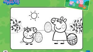 peppa pig easter colouring activity sheet nick jr uk