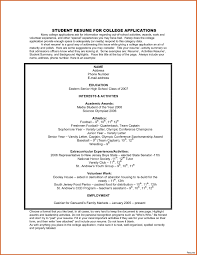high school resume for college template high school resume exles for college admission inside