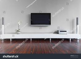 modern livingroom tv hifi equipment stock photo 99121214