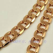 solid copper necklace chain images 23 3 quot inch 59 2cm 12mm 100g real men 18k rose gold plated necklace jpg
