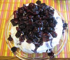 chocolate cherry layer cake recipe with whipped cream cheese