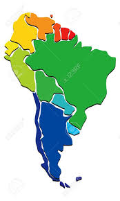 South America Blank Map by Colorful South America Map Royalty Free Cliparts Vectors And