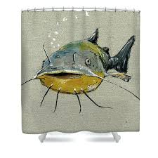 Spirella Goldfish Orange Plastic Shower Curtain