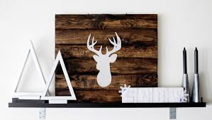 jeri vann my creative mind deer silhouette home decor