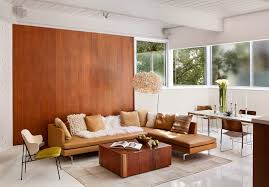 White Painted Coffee Table by White Painted Wood Paneling Living Room Midcentury With High Gloss