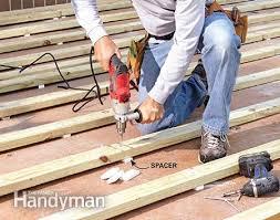 how to build a deck a concrete patio hammer drill concrete