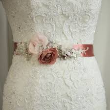 bridal sash bridal sash wedding belt wedding dress sash floral sash flowered