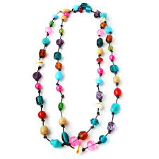 colored bead necklace images Long colorful beaded necklaces necklace wallpaper jpg