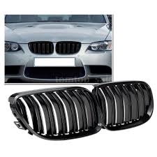 bmw grill for bmw series e92 e93 gloss black kidney grille dual slat m4