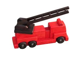 wooden truck large wooden ladder fire truck toy amish made toy u2013 amishtoybox com