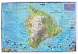 Hawaii Island Map Franko U0027s Dive Map Of Hawaii The Big Island Frank Nielsen