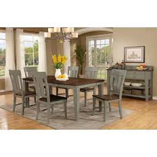 Shaker Dining Room Furniture Avalon Furniture Shaker Nouveau Two Tone Dining Table With Leaf