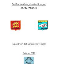 Calendrier Fdration Franaise De Secteur Rouennais Petanque Calendrier Secteur 2018