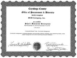 Construction Estimating Certification by Mcm Company Inc Cleveland Oh Construction Management