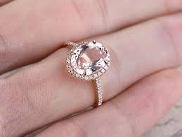 pink morganite oval cut pink morganite engagement ring solid 14k gold
