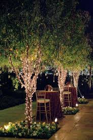 how to string lights on a tree garden wedding string lights in trees 2096605 weddbook