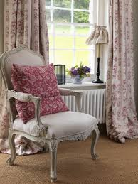 English Country Window Treatments by Cabbages U0026 Roses India Rose Fabric Curtains The Romantic Cottage
