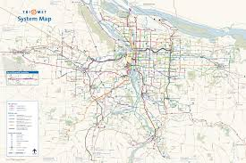 Portland Bike Map by The Transit Tourist Portland Ore The Source