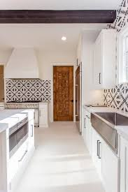 Black And White Tile Kitchen Backsplash by Cement Tile Shop Tulum Kitchen Backsplash Tiles Mediterranean
