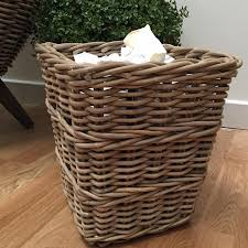 waste paper baskets rustic rattan waste paper basket the farthing homewares