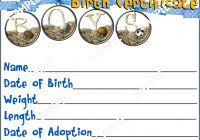 baby doll birth certificate template best and various templates
