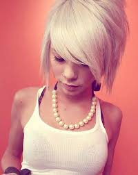 short funky hairstyles for round faces with medium length for teens