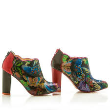 So Ankle Boots Sara Melissa Shoes Leather Ankle Boots With Butterfly Animal Print