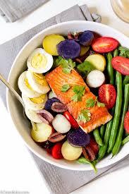 cuisine nicoise salmon nicoise salad with lemon dijon vinaigrette